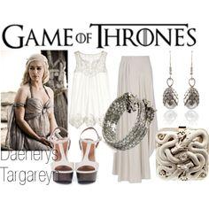 GAME OF THRONES by adrii-muniz on Polyvore, featuring cadsawan's Dragon Egg Earrings! #GameofThrones #DaenerysTargeryen #Khaleesi