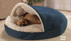 Cozy Cave Dog Bed - I wouldn't mind one of these to cuddle up in right now! It's so cold here!