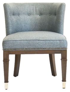 Vanguard Furniture: C12-CH Josephine Chair in Vanguard Furniture: 550608 - TILFORD BLUEBELL (Fabric)