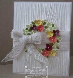 Stampin Up wondrous wreath stamp set card wedding bridal shower fall spring