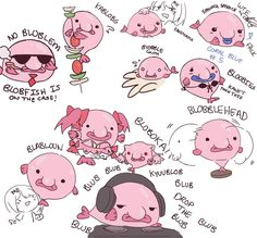 Fun Blobfish puns by Kanekiru on DeviantArt Cute Drawings, Animal Drawings, Blobfish, Axolotl, Fish Puns, Funny Animals, Cute Animals, Weird Fish, Cute Fish