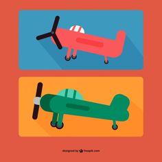 Cartoon Planes Free Vector