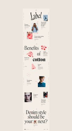A quick little project called Check The Label editorial content website for Cotton in New York. Minimal Web Design, Design Web, Banner Web Design, Ecommerce Web Design, Design Food, Web Design Tutorials, Book Design, Creative Web Design, Flat Design