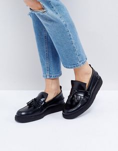 3068657768e Shop Fred Perry x George Cox Tassle Loafer at ASOS.