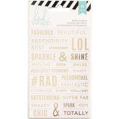 Heidi Swapp Stickers Word JumblesClear & Gold Foil Sticker 28/Pkg