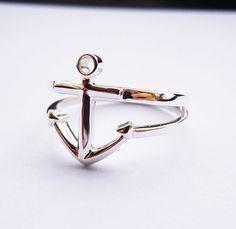Anchor Ring in Sterling Silver Handmade door SterlingSilverJewels