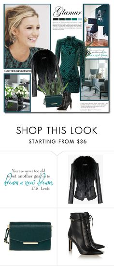 """""""Fashion girl!!"""" by lilly-2711 ❤ liked on Polyvore featuring moda, Balmain, Ted Baker, Sam Edelman, leatherjacket, HM, balmain, ankleboots ve blakelively"""