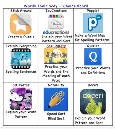 iPaddling through Fourth Grade-Encourage...Engage...Enlighten...Empower: Words Their Way - Spelling - 1:1 Classroom
