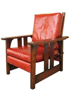 Antique Morris Recliner Chair Mahogany Lion Head Arms And