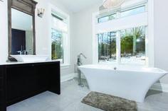 #Bathroom vanity completed in Caesarstone Misty Carrara #quartz. #BathroomDesign #InteriorDesign #Toronto #WhiteBathroom