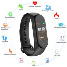 New Smart Band Fitness Tracker Smart Watch Sport Smart Bracelet Heart Rate Blood Pressure Smartband Monitor Health Wristband (Discount 43 % ) Fitness Tracker, Smart Bracelet, Bracelet Watch, Smartwatch Android, Android 4, Sport Armband, Wearable Device, Fitness Bracelet, Fitness Watch