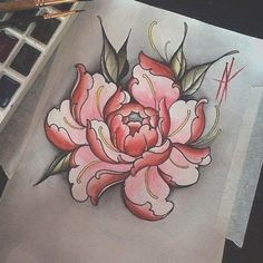 Cherry Tattoos - The Reasons Why Men and Women Choose Cherry Tattoo Designs Revealed! Vintage Flower Tattoo, Simple Flower Tattoo, Small Flower Tattoos, Flower Tattoo Arm, Flower Tattoo Shoulder, Flower Tattoo Designs, Tattoo Flowers, Small Tattoo, Japanese Peony Tattoo