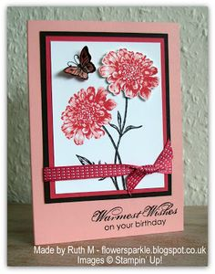 Flower Sparkle: Field Flowers Warmest Wishes Birthday Card