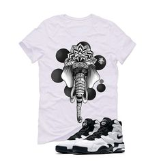 Nike Air Max 2 Uptempo 94 'White & Black' White T (ELEPHANT) Nike Air Max 2, White T, Matching Shirts, Street Wear, Elephant, Mens Tops, T Shirt, Clothes, Fashion