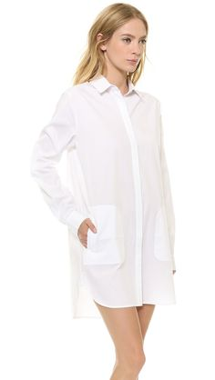 Long Sleeve Shirtdress from T by Alexander Wang - perfect #maternity #style