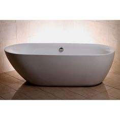 Transform your bath to a personal oasis with this double ended acrylic tub. The freestanding 71-inch tub is designed for transitional and contemporary settings.
