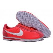 reputable site f4c6a af327 Inimitable Nike Classic Cortez Nylon Homme Peach Rose Blanc Running  Chaussures-20 Nike Cortez Red