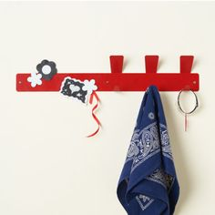 Love this magnetic strip hook for an entryway, mudroom or kids bedroom! It's ideal for hanging up things your kids want to keep handy as well as a convenient place to post reminders.