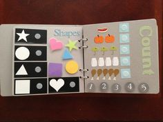 Pre-school Busy Book.  Love this idea!!  Fun project for a big cousin to make for a little cousin (or sister) :-)