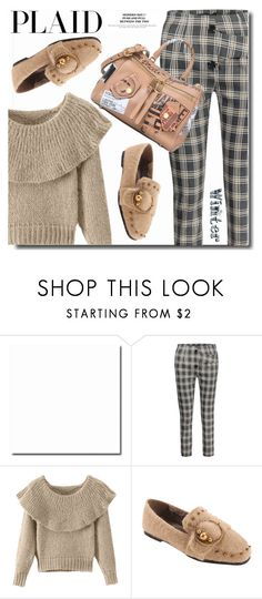 """""""Plaid pants"""" by soks ❤ liked on Polyvore featuring Moschino, outfit, girly, plaid and polyvoreeditorial"""