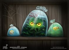 ArtStation - Daily Paint 1742# Monster Shop - Cthulhu, Piper Thibodeau