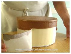 Easy Gift Box Cake in buttercream