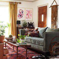 Modern Southwest Decor Southwest Decorating Modern Southwest Style Homes Eclectic Living Room, Interior Design Living Room, Living Room Designs, Living Room Decor, Living Spaces, Modern Southwest Decor, Modern Decor, Southwest Style, Dining Room Curtains