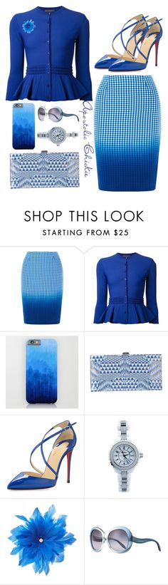 """""""Degrade Azure"""" by apostolicchickie ❤ liked on Polyvore featuring Bailey 44, Alexander McQueen, Lodis, Christian Louboutin, Chanel, Untold and Roberto Cavalli"""