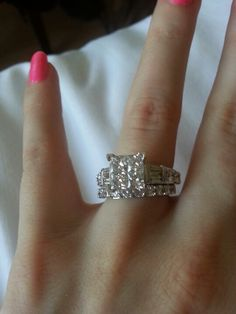 3 carat princess cut diamond engagement ring!