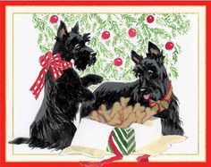 Scottie Dog Christmas Cards Scottish Terrier Christmas Cards ...