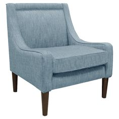 Finch Arm Chair in Light Blue - The Sailor's Retreat on Joss & Main