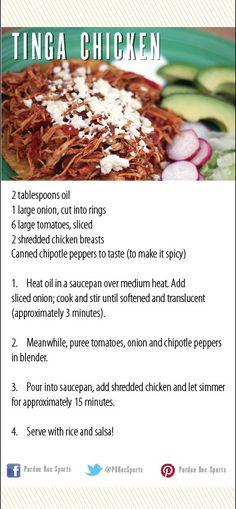 Tinga Chicken Recipe (mexican tomato chicken) From the Purdue Rec Sports Demo Kitchen