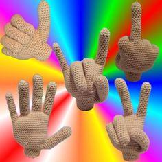 Auch Hände können viel sagen! Ob einfach zum Spaß oder sogar mit gutem Grund (Bsp: erste Rechenschritte) diese lebensgroße Hand kann man immer gut gebrauchen. erforderliche Kenntnisse: Fadenring, feste Maschen benötigtes Material: ca. 75g beige Wolle