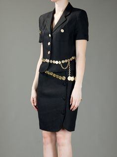 €545 Moschino Vintage Belted Suit