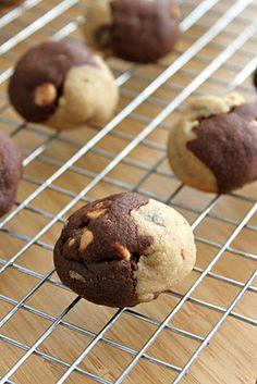 Chocolate Peanut Butter Half & Half Cookies