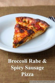 Spicy Broccoli Rabe Deep Dish Pizza--spicy Italian sausage and farm ...