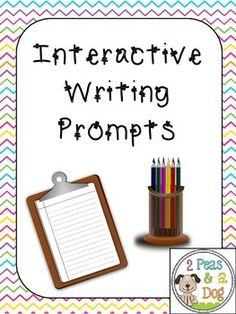 Interactive Writing Prompts Students use the 10 different story prompts to get thinking creatively about what might happen in each scenario. Students must move around the classroom to answer each other's story writing prompts. ($3.00)