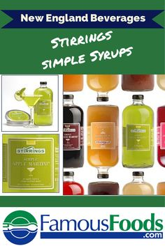 Stirrings Simple Syrups are a New England favorite! Makes it simple to craft your best cocktails!