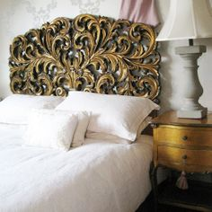 """Gold Gilt Rococo:   """"What I love about The French Bedroom Company is its unashamed femininity and the way the various pieces, such as the beds , mirrors and chandeliers positively revel in their own glorious Marie Antoinette-ishness. They are also lifted out of the ordinary by a hint of quirkiness and originality that's reflected across the entire product range.""""    Katie Law, Evening Standard"""