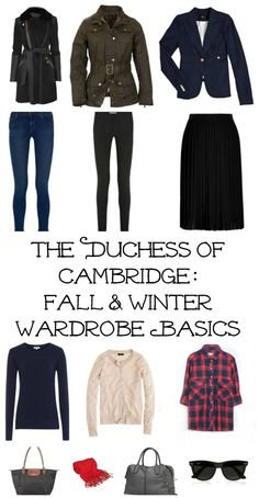 Kate's Fall/Winter Capsule Wardrobe - What Would Kate Do?
