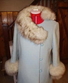 Vintage Blue Coat | Miss Celie's Pants