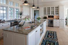White Kitchen, Dark countertops