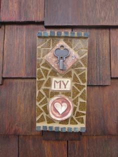 Key To My Heart Mosaic by katiesmosaics on Etsy, $28.00