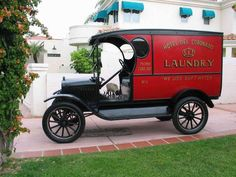 This 1923 Ford Model T, original laundry truck for the Hotel del Coronado that operated the streets of Tent City and Coronado during the Roaring Twenties. Now owned by the Coronado Museum and driven in local parades.