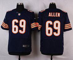 Nike Chicago Bears  69 Jared Allen Blue Elite Jersey 17ead17a9