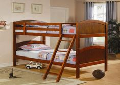 L-Shaped Loft Bunk Bed with Extra Loft Bed - Honey adds a classic look to your children's bedroom, Double loft beds, L shaped beds and Bed parts. #Twin #L-Shaped #Bunk #Beds