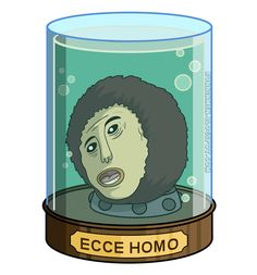 #EcceHomo meme in #Futurama's head-in-a-jar style! (by RuNNiNmeN)