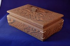 "This box is handmade from Wenge, an African hardwood. I think the wood is beautiful but when a finish is applied the stunning grain pattern is lost. So I chose to leave it unfinished. The box measures 7 1/2"" by 11 1/2"" by 5"". $252.44"