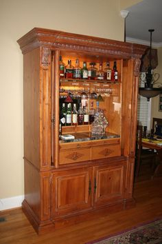 Repurposed tv armoire entertainment center as a bar home and furniture repurpose old . repurposed tv armoire an old repurpose . Entertainment Center Makeover, Entertainment Center Kitchen, Diy Entertainment Center, Entertainment System, Armoire Bar, Redo Armoire, Armoire Makeover, Johnny B, Bar Sala