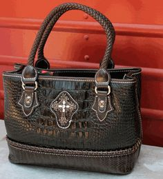 Brighton Inspired Black and Brown Cross Purse Leather